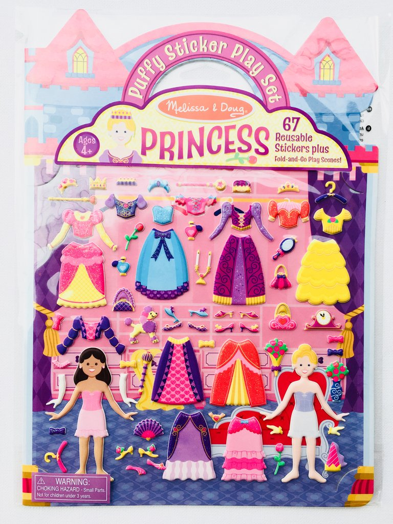 Reusable Puffy Sticker - Princesses