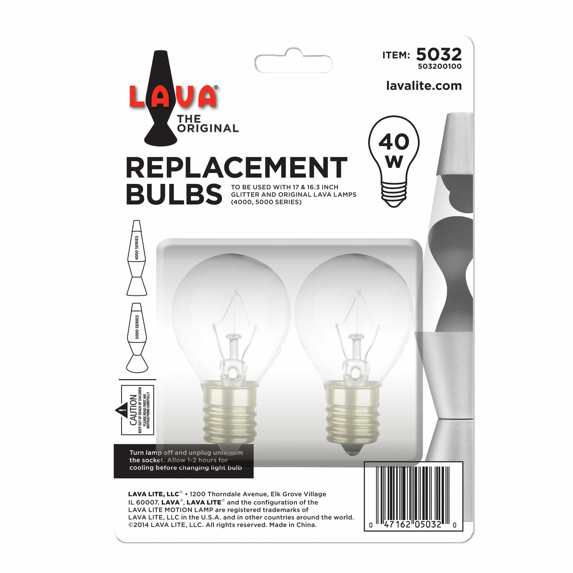 Replacement bulbs - 40w