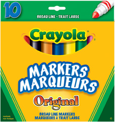 Broad Line Markers, 10 ct