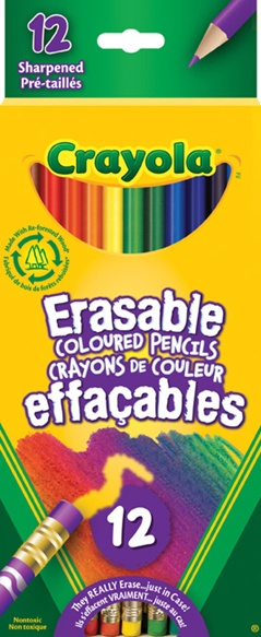 Erasable Coloured Pencils 12 ct.