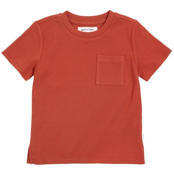 Red ribbed T-shirt