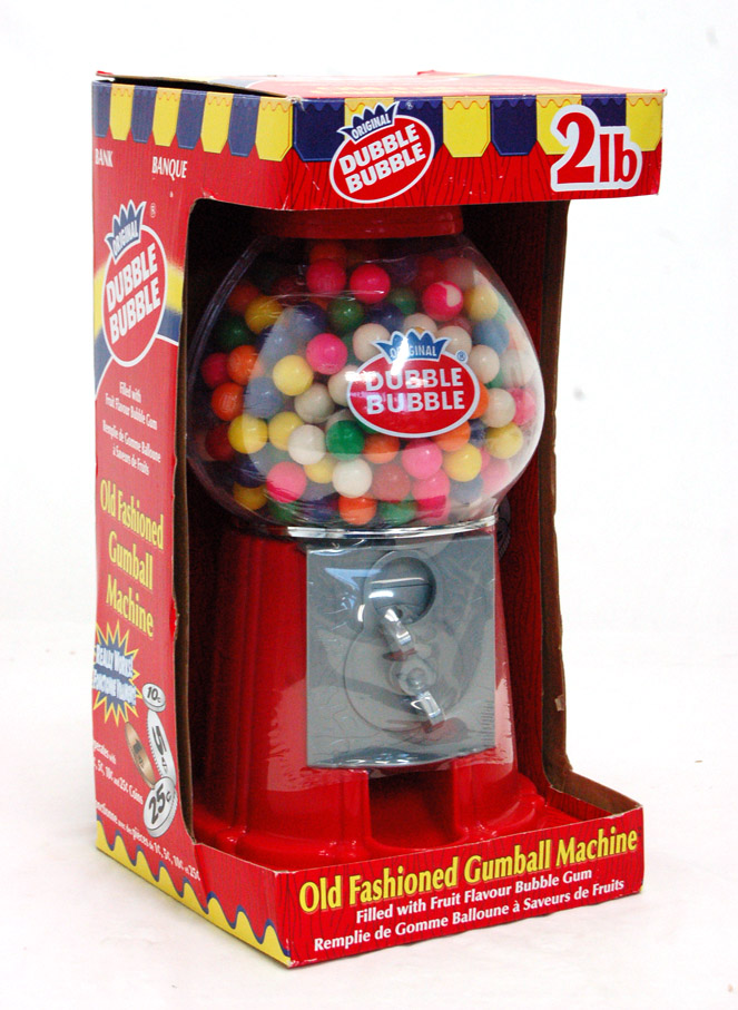 Old fashioned gumball machine