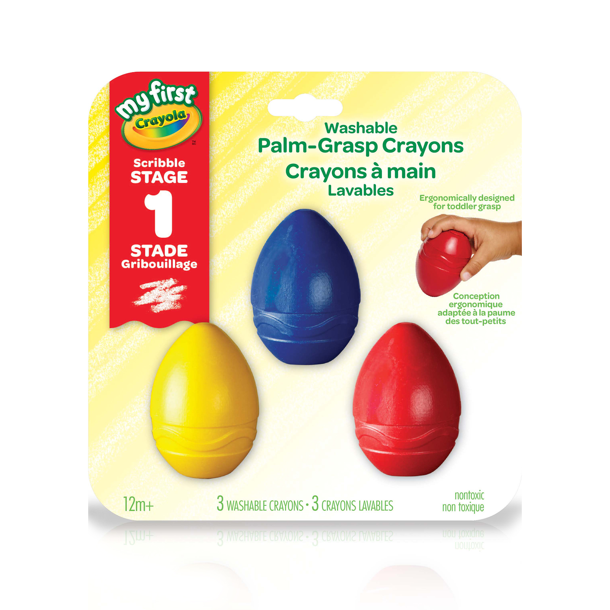Palm-grasp crayons